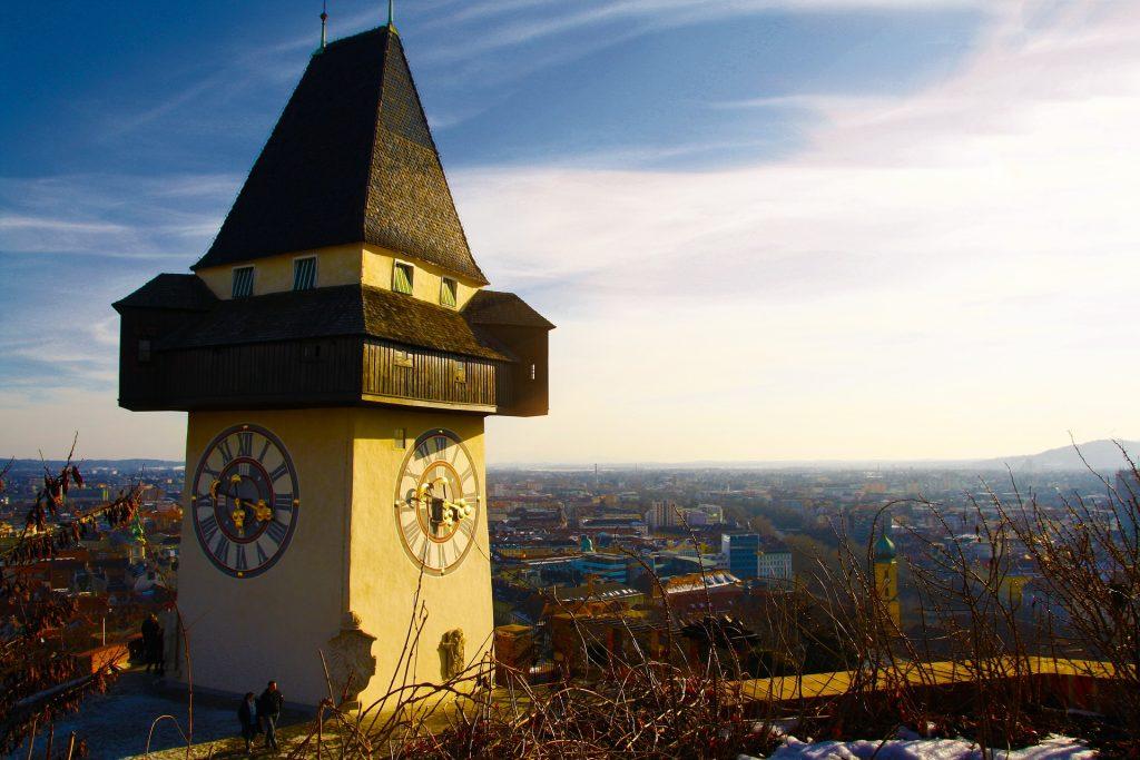 Uhr turm bezienswaardigheden in Graz